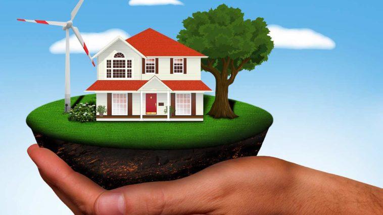 Umweltfreundliches Energiesparhaus