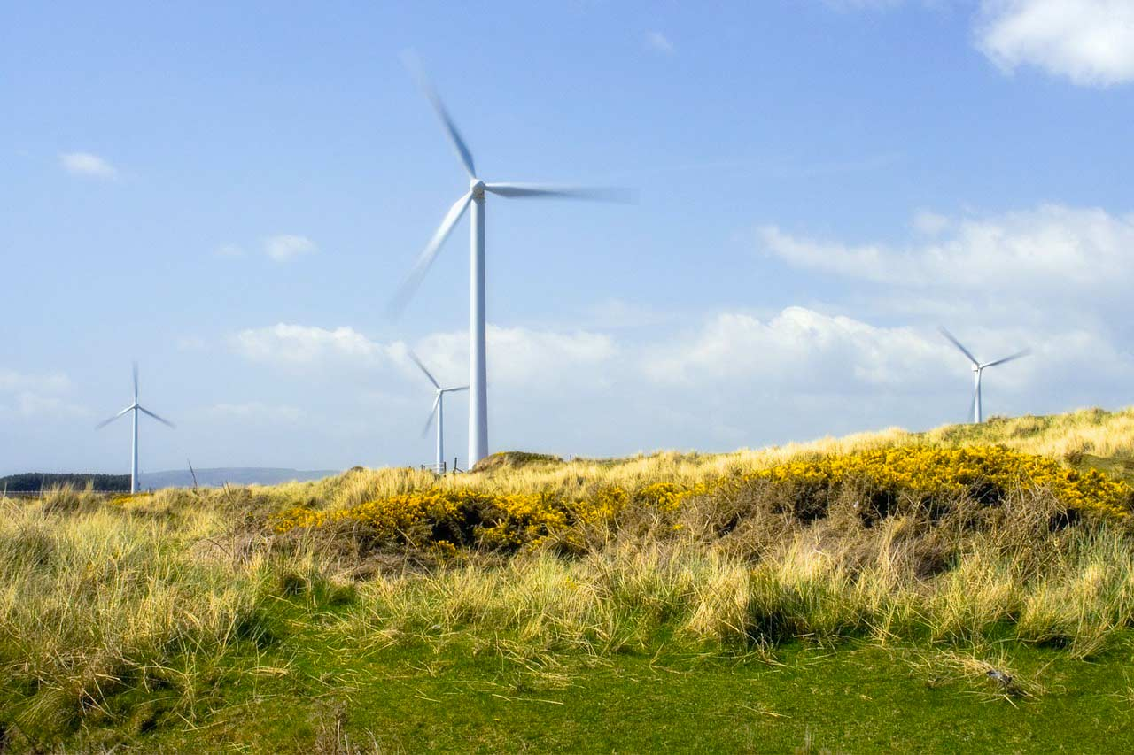 Grüner Strom mit Windkraft