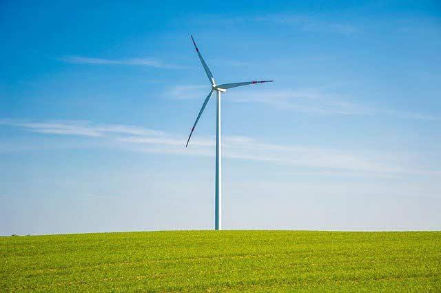 Windrad zur Erzeugung erneuerbarer Wind-Energie